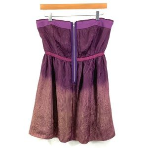 FREE PEOPLE Violet Purple Strapless Mini Dress F6